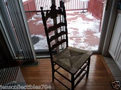 Antique Ladder Back chair with Rush Seat.