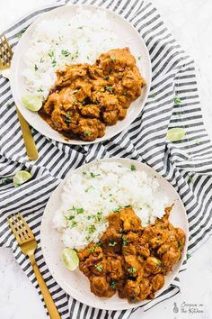 This Vegan Butter Chicken will blow your mind and impress your friends! It's a healthier version of the classic, and so rich and creamy! via https://jessicainthekitchen.com