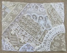 Vintage & Antique Lace Collage, No. 20 ... Embellishment for crazy quilting, heirloom sewing, fabric art, journals, assemblage, multi media