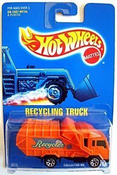 Hot Wheels #143 Recycling Truck 1:64 Scale Collectible Die Cast Car Mattel by…