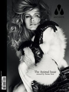 "Antidote magazine unleashed their new ""Animal Issue"" with eleven outstanding covers photographed by Txema Yeste and styled by Yann Weber"