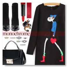 """Monochrome"" by simona-altobelli ❤ liked on Polyvore featuring Balenciaga, Max Factor and Bobbi Brown Cosmetics"