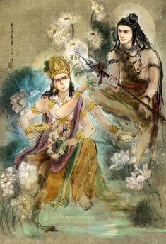 Vishnu&Shiva (Devo Ke DevMahadev) Lord Shiva Statue, Lord Shiva Pics, Lord Shiva Painting, Krishna Painting, Krishna Art, Hare Krishna, Shiva Parvati Images, Lord Krishna Images, Kali Hindu