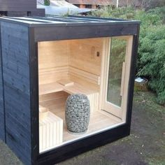 Diy Sauna, Sauna House, Sauna Room, Modern Saunas, Building A Sauna, Sauna Design, Design Design, Natural Swimming Pools, Natural Pools