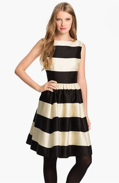 kate spade new york 'carolyn' stripe fit & flare dress available at #Nordstrom