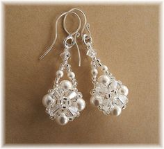 Crystal Crowns Bridal Earrings Clear Crystal by BridalDiamantes