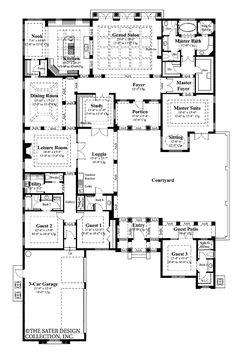 excellent ultra modern house plans with three car tandem garage planner house pinterest discover best ideas about modern house plans and tandem - Large House Plans