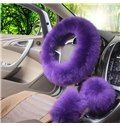 High-Grade Warm Long Plush Material Charming 3-Pieces Medium Car Steering Wheel Cover Sets on sale, Buy Retail Price Steering Wheel Covers at Beddinginn.com