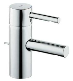 Grohe 32 216 Essence Single Hole Bathroom Faucet with SilkMove and WaterCare Tec Starlight Chrome Faucet Lavatory Single Handle Contemporary Bathroom Sink Faucets, Bathroom Faucets, Modern Bathroom, Master Bathroom, Downstairs Bathroom, Small Bathroom, Kitchen Mixer Taps, Basin Mixer Taps, Bath Shower Mixer