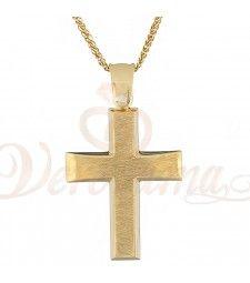 Σταυρός ανδρικός χρυσός Κ14 ST_112 Symbols, Letters, Letter, Lettering, Glyphs, Calligraphy, Icons