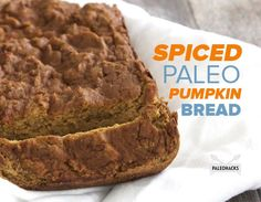 This Paleo Pumpkin Bread uses coconut flour as the base, honey as the sweetener and plenty of pumpkin pie spice for that delicious, fall flavor.