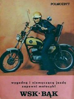 Polskie Motocykle Car Polish, Eastern Europe, Cars And Motorcycles, Motorbikes, Ads, Humor, Vehicles, Poster, Vintage
