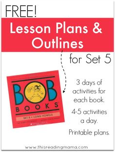 Lesson Plans and Outlines for BOB Books Set 5 | This Reading Mama