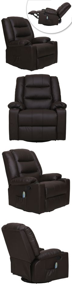 Electric Massage Chairs: Brown Recliner Full Body Shiatsu Massage Chair W/Heat Stretched Foot BUY IT NOW ONLY: $295.99