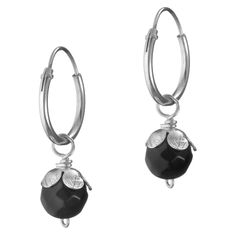 Success Silver Earrings And Onyx Gem