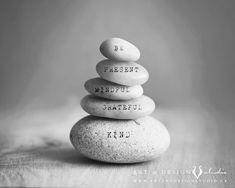 Inspirational Word Art, Zen Decor, Motivational Art Print - Be present, mindful, grateful, kind  by inspiredartprints, From $25.00 www.artanddesignstudio.ca