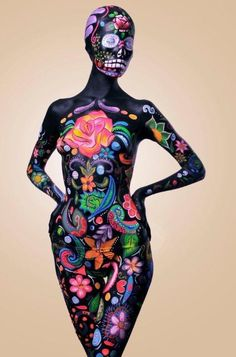 Best Halloween Body Paint | Beatriz Cisneros | Makeup - Body & Face Paint/Halloween......I pinned this because it is cool! but would never do this
