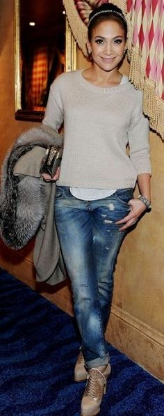 Jeans - Balmain Shoes - Christian Dior Rings - Brumani Same shoes in black Similar style sweater