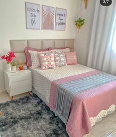 Small Room Design Bedroom, Cute Bedroom Decor, Bedroom Wall Designs, Cool Teen Bedrooms, Bedroom Decor For Teen Girls, Beauty Room Decor, Decoration, Pinterest Home Decor Ideas, Small House Interior Design