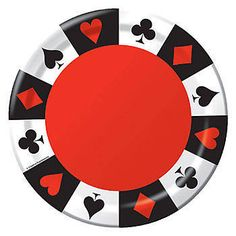 Add the Card Night 7 Inch Plates to your Casino party! Casino Card Night plates are brightly printed paper napkins and come in a package of 8.