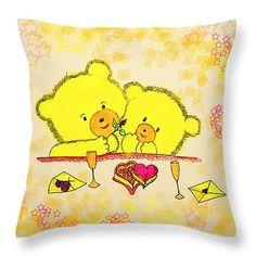 "Happy Valentine's Day  Throw Pillow 14"" x 14"""