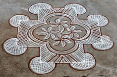 Small Rangoli Design, Beautiful Rangoli Designs, Kolam Designs, Padi Kolam, Kolam Rangoli, Celtic Knots, Simple Rangoli, Mandala, Projects To Try