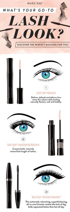 Lash Love® Mascara, Lash Love Lengthening® Mascara or Mary Kay® Ultimate Mascara™: Which mascara catches your eye? You know you'll want them all. www.marykay.com/celia.ferguson