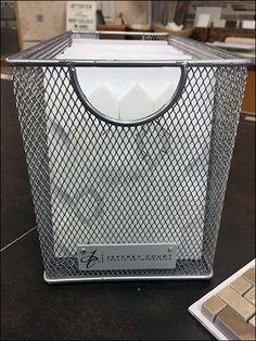 Jeffrey Court Wire Mesh Basket Tile Sampler – Fixtures Close Up Expanded Metal, Wire Mesh, Basket, Tiles, Wall Tiles, Metal Trellis, Wire Mesh Screen, Tile, Hamper