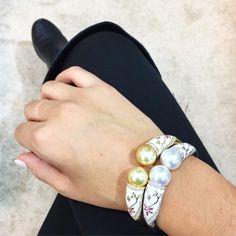 """NEW METROPOLITAN COLLECTION | Taj Mahal Bangles | #autorepearls #autore #baselworld #baselworld2016 #love #jewellery #finejewellery #diamonds #pearls…"""