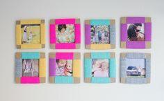 bilderrahmen-selber-machen-farbig-wanddeko-ideen