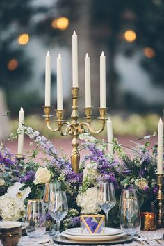 Ideas Wedding Table Runner Purple Candles For 2019 Shabby Chic Style, Royal Purple Wedding, Purple Candles, Lavender Candles, Mod Wedding, Wedding Shoot, Dream Wedding, Forest Wedding, Wedding Album
