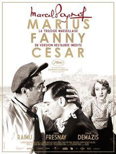 """La trilogie marseillaise.""""Marius"""" (1931) et """"Fanny"""" (1932) sont réalisés respectivement par Alexander Korda et Marc Allégret d'après les pièces  éponymes de Pagnol. """"César"""" (1936) est d'abord porté à l'écran  par Pagnol lui-même puis joué  sur scène (1946). Dans les 3 films on retrouve Raimu, Pierre Fresnay et Orane Demazis."""