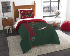 Use this Exclusive coupon code: PINFIVE to receive an additional 5% off the Minnesota Wild NHL Twin Printed Comforter Set at SportsFansPlus.com