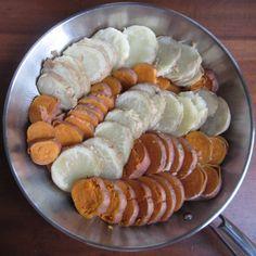 Scalloped Sweet Potatoes and Pancetta