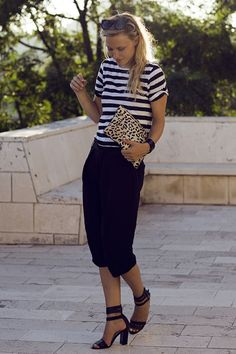 Black & White Striped Top styled by Raspberry & Rouge.