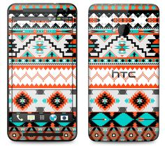HTC One Case Decal Skin Cover Aztec Pattern by skunkwraps on Etsy, $9.95