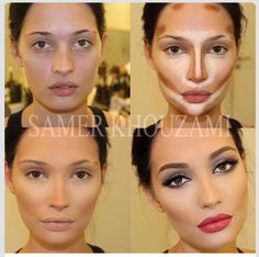 Oval face highlight and contour