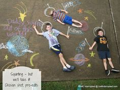 22 Totally Awesome Sidewalk Chalk Ideas - Out of this World Adventure