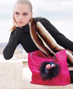 Cara Delevingne by Karl Lagerfeld for Fendi Fall 2013