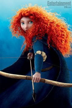 Merida from Brave due in June-love the curly red hair and the fact that Pixar is finally giving young girls a role model. Disney Pixar, Arte Disney, Disney Magic, Disney Movies, Brave Characters, Disney Characters, Disney Princesses, Female Characters, Animation