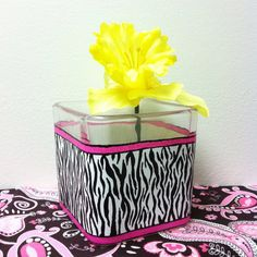 Candle Holder Hand Painted Zebra Stripe with by DirtRoadCrafter, $8.99