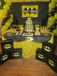 Awesome Batman boy birthday party!  See more party ideas at CatchMyParty.com!