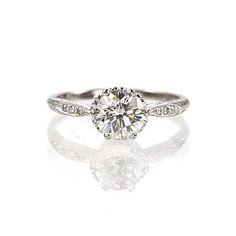 New York, NY Jewelry, engagement rings - Leigh Jay Nacht - Replica Edwardian Engagement Ring - 3237-07