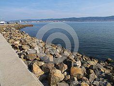 Coast of Nessebar. an  an ancient town  on the Bulgarian Black Sea Coast