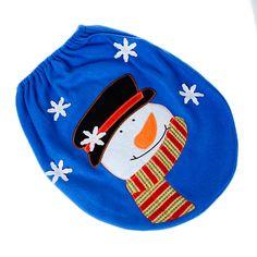 3pcs Fancy Santa Toilet Seat Cover New Rug Bathroom Set Christmas Home Decor navidad decoracion