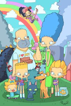 The Simpsons! by lost-angel-less on DeviantArt Futurama, The Simpsons, Cartoon Shows, Cartoon Art, Character Design Animation, Character Art, Yolo, Htf Anime, Simpsons Drawings