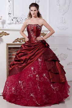 Bal Robe Rouge Robes De Soirée Perlage rs1422 - Tissu: Taffetas Encolure: Sans Bretelles, Silhouette: Robe De Bal; Fermeture: Lacets - Price: 186.9900 - Link: http://www.robesoirees.com/bal-robe-rouge-robes-de-soiree-perlage-rs1422.html