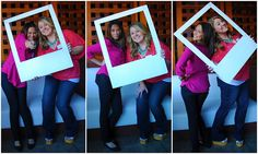 homemade photobooth...looks like fun! this would be a very neat pic to do for Senior Pics of two bff's...LOVE this IDEA