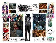 """Worse Heroes Ever!"" by livelifeloud24 on Polyvore featuring jared, WearAll and InSquadWeTrust"