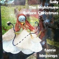 Sally Nightmare Before Christmas, Jack Skellington, Fairy Doll, Pixie Ornament, Miniature Figurine, Halloween Decoration, Unique Gift by FaerieBlessings on Etsy https://www.etsy.com/listing/205474039/sally-nightmare-before-christmas-jack